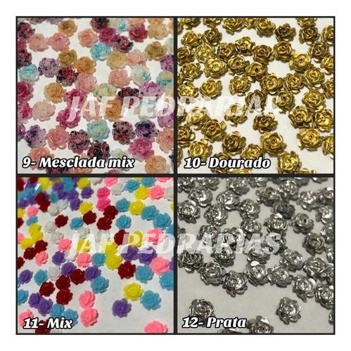 10 pacotes de rosas 3d 5mm com 50 unidades cada