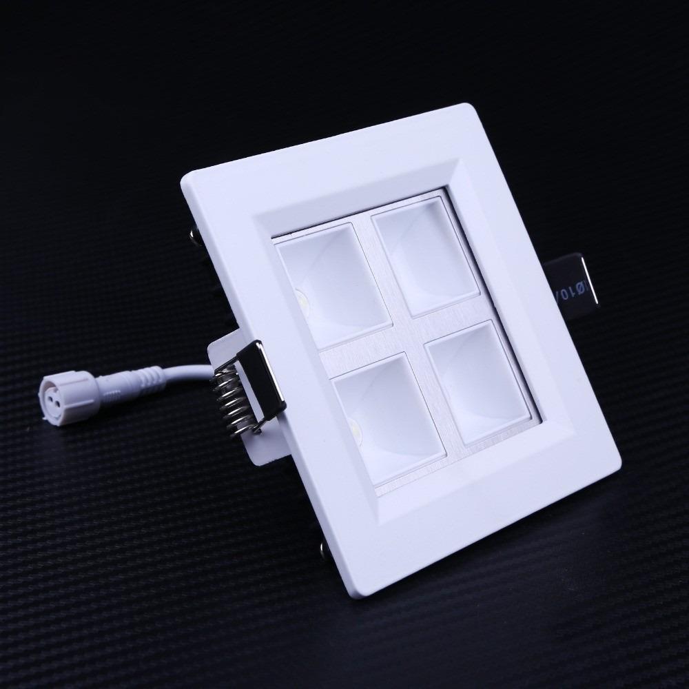10 painel plafon 4w luminaria led embutir sanca gesso for Luminarias de exterior led