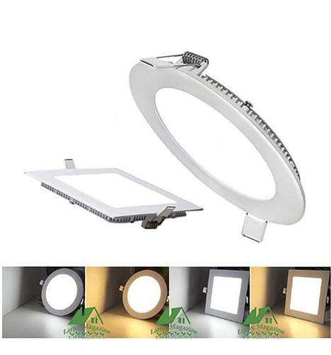 10 painel plafon led embutir no gesso 18w redondo / quadrado