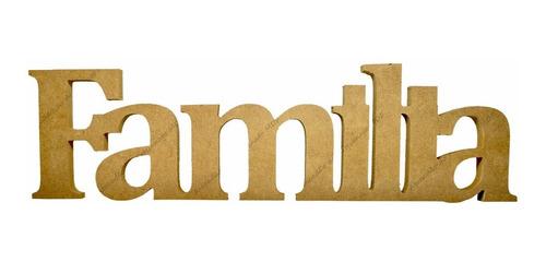 10 palavra família mdf 15mm 12x42 madeira