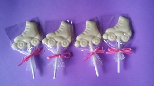 10 paletas de chocolate - patin - soy luna - souvenirs -