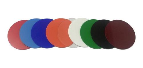 10 palhetas acrílicas coloridas - futebol de mesa / botão