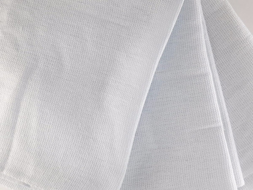 10 panos de prato copa branco liso bainhado 65x38 cm atacado