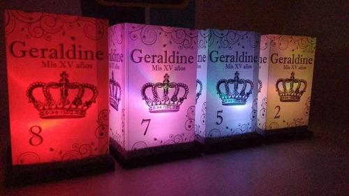 10 pantallas 10x 15 cm + vela electronica rgb cambio gradual