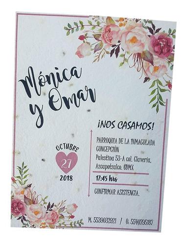 10 paq. papel semilla para promocionales, invitaciones