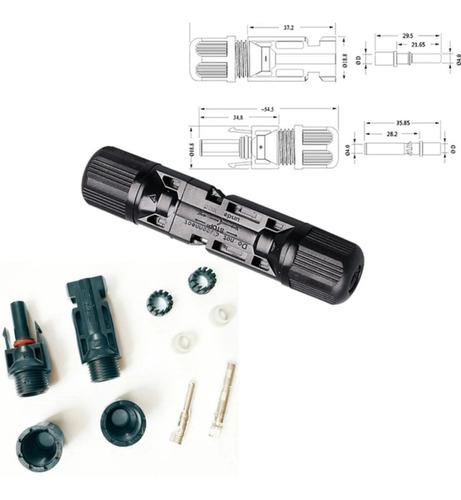 10 pares conector mc4 solar fotovoltaica  f + m 2,5-6 mm²