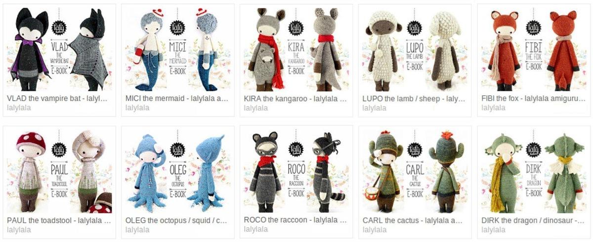 10 Patrones Lalylala + 3 De Regalo - En Español - Crochet - $ 350,00 ...