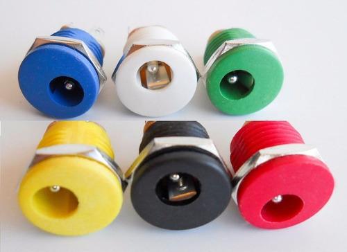 10 pc dc jack multicolor para pedales diy - g32x