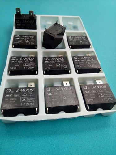 10 pç rele ar condicionado split sfk112dm sanyou 20a 250