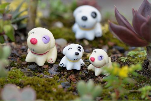 10 peças mini cachorros miniaturas terrários jardim de fadas