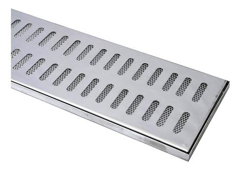 10 peças ralo linear 15x100 polido inox excelente acabamento