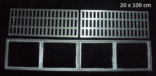 10 peças ralo linear 20x100 cm liga de alumínio fundido