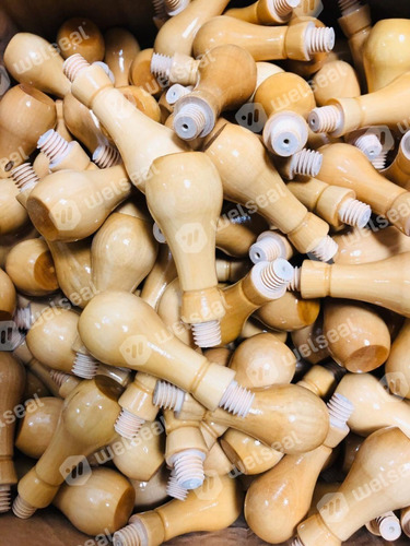 10 perillas con rosca para sellos de madera