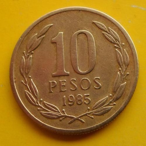 10 pesos 1985   muy escasa  ( n c )