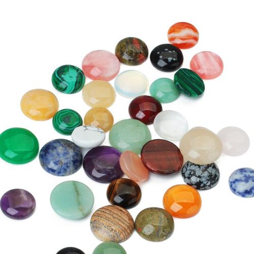 10 pieces fazendo jóias 8mm metade redondo pedra preciosa ca