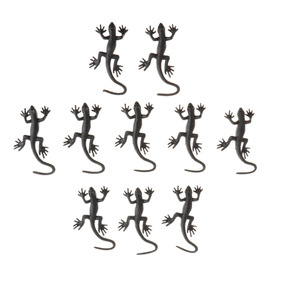 Collect Pieces Vivid Toy Reptile Rubber Figure 10 Gecko Soft TPZukOiX