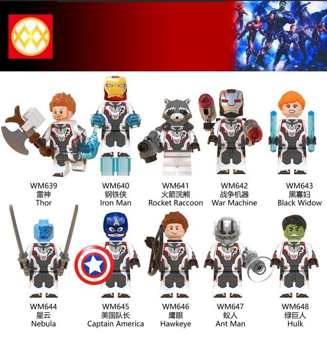 Avengers Endgame Juguetes 10 Blocks Building Piezas Niños 4ALj5R3q