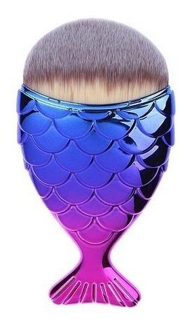 (10 piezas) brochas makeup cola de pescado sirena