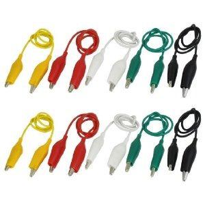 10 piezas de 5-color doble composición alligator clips de pr