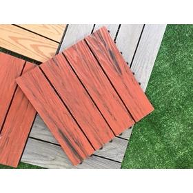 10 Piezas De Piso Deck Green Outlet Pza De 30x30 Cm