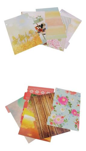 10 piezas hecho de papel en blanco resistente páginas