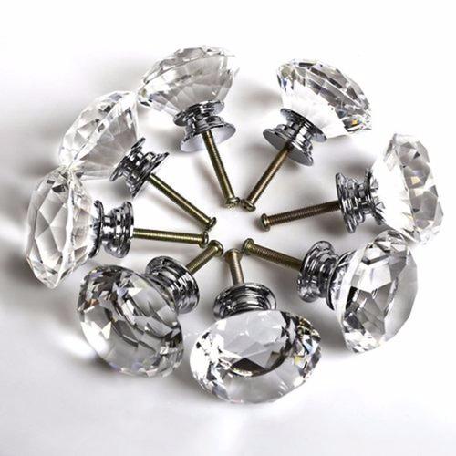 10 piezas jaladeras cristal/perillas/herrajes