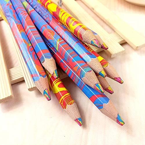 10 piezas mezcló colores del arco iris lápices lápiz arte di