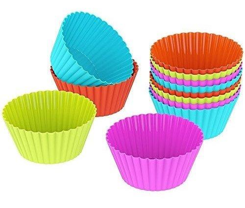 10 piezas para hornear cupcake tazas de silicona moldes para