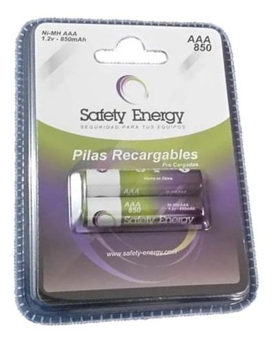 10 pilas aaa recargable safety energy 1.2v baja autodescarga