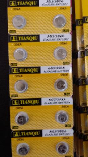 10 pilas baterías reloj (ag3/392a/lr41) 1.55v