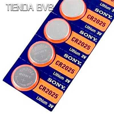 10 pilas boton sony cr2032 cr2025 litio 3v blister original