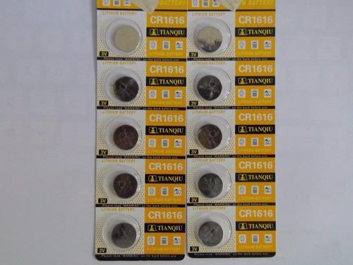 10 pilas cr1616 3v  para reloj control de carro, etc...