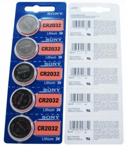 10 pilas cr2032 sony baterias 2032 pila litio 3v envío grat