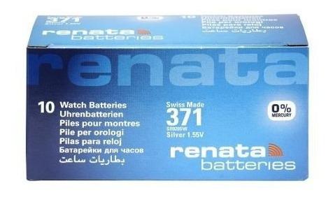 10 pilhas baterias 371, relógio 1.55v renata sr920s original