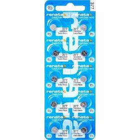 10 Pilhas Baterias 377, Relógio 1.55v Renata Sr626s Original