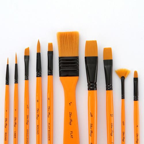 10 pinceles de arte profesional para la pintura al óleo de