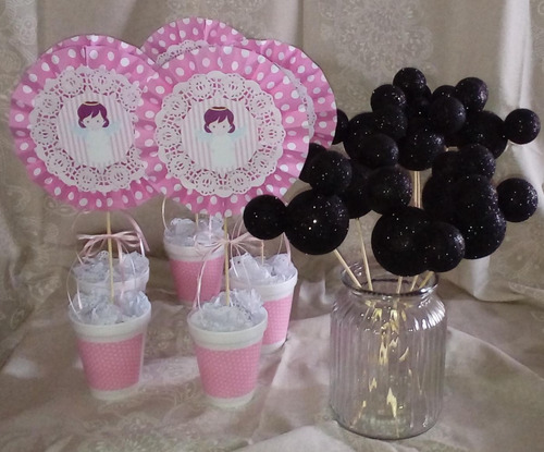 10 pinchos mickey ideal souvenirs -topiarios- centro de mesa