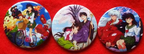 10 pines prendedores colección  inuyasha  manga anime