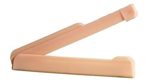 10 pinza  recta para bolsa ostomía, convatec - deltamed