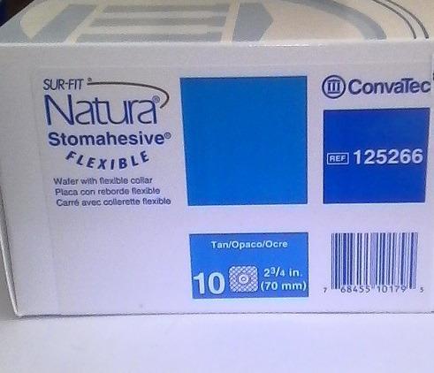10 placa ostomia natura 125266, convatec  - deltamed