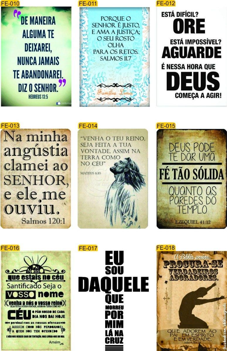 10 Placas De Frases Evangélica Decoração Casa Igreja R 12090 Em