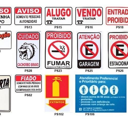 10 placas de sinalização pacific