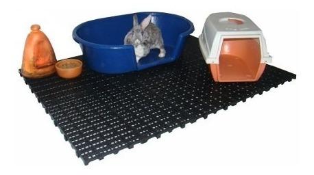 10 placas sanitárias para cães e gatos pallet piso plástico