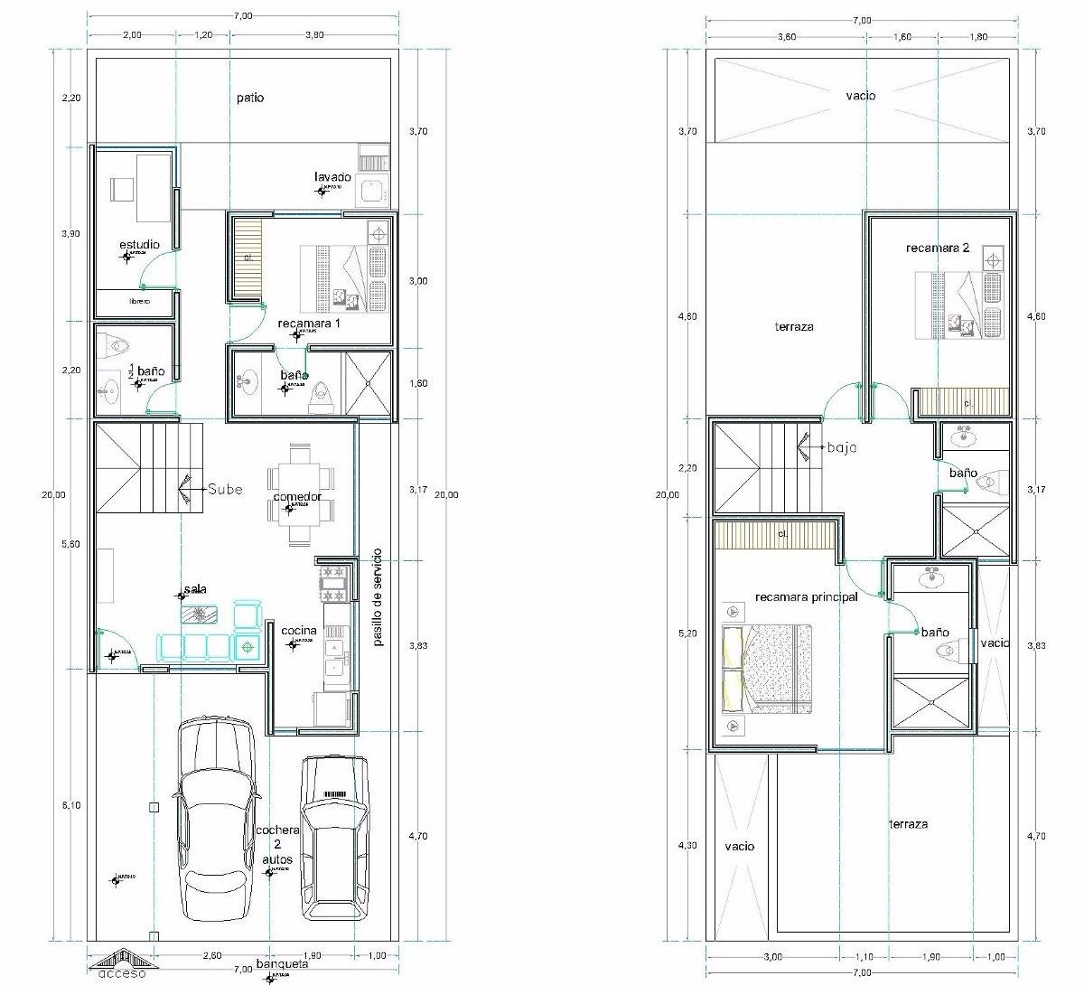 10 planos arquitectonicos dwg y pdf en