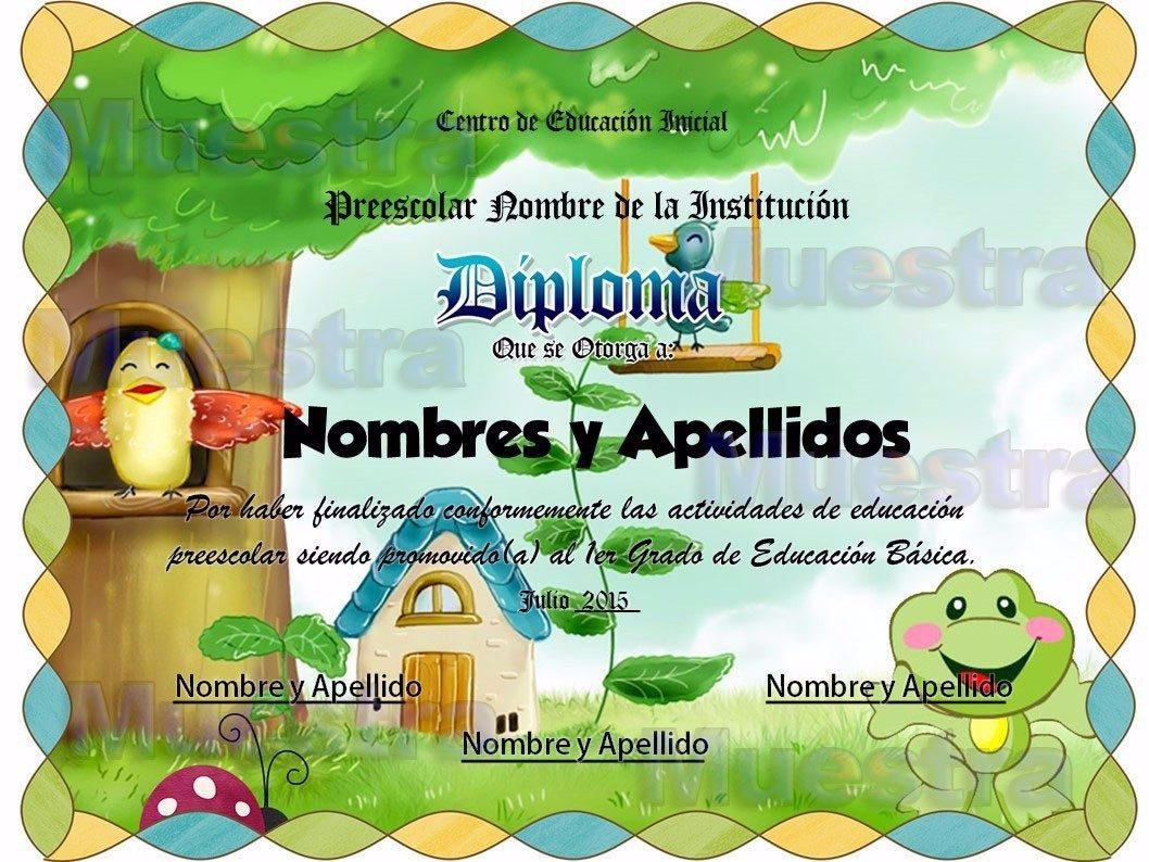 10 Plantillas Editables Para Diplomas Infantiles