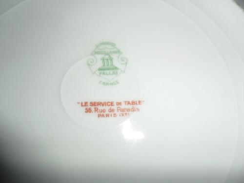 10 platos playos porcelana limoges. microcentro-avellaneda.