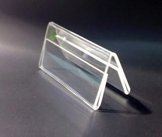 10 porta menú de acrílico transparente 13x18 base de madera
