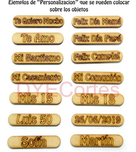 10 porta sahumerios madera fibrofacil souvenirs 15años