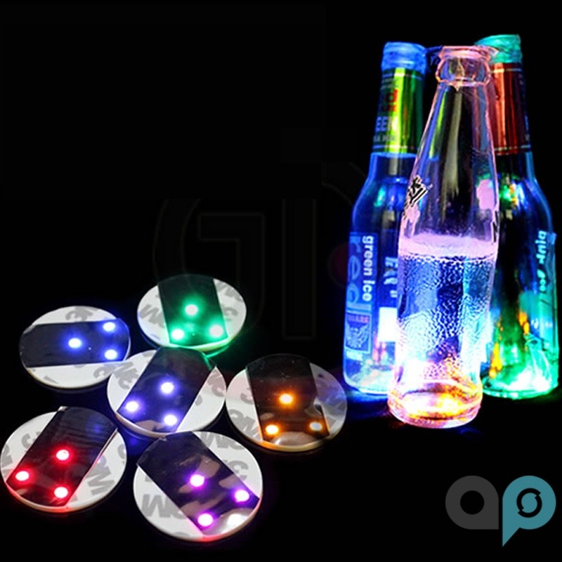 10 porta vasos con luz led roja iluminaci n botellas y mas for Luces led a pilas para armarios