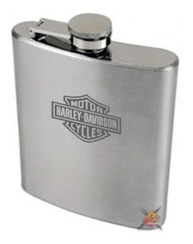 10 porta whisky - cantil bolso personalizados inox 7oz/200ml